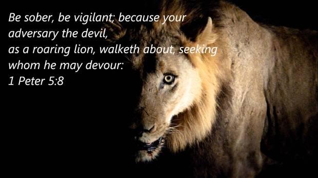Satan like a roaring lion