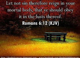 Let not sin reign