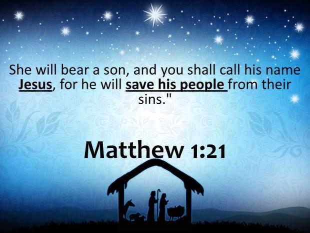 Matthew 1:21.